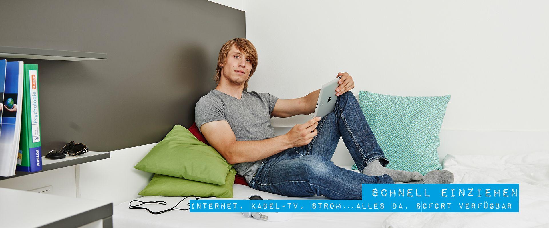 Schnell einziehen in moderne Apartments mit High-Speed Internet, Kabel-TV, Strom, Küche und Möblierung